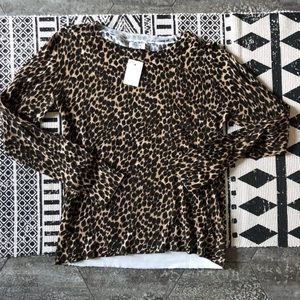 Leopard Print Sweater- lightweight size small
